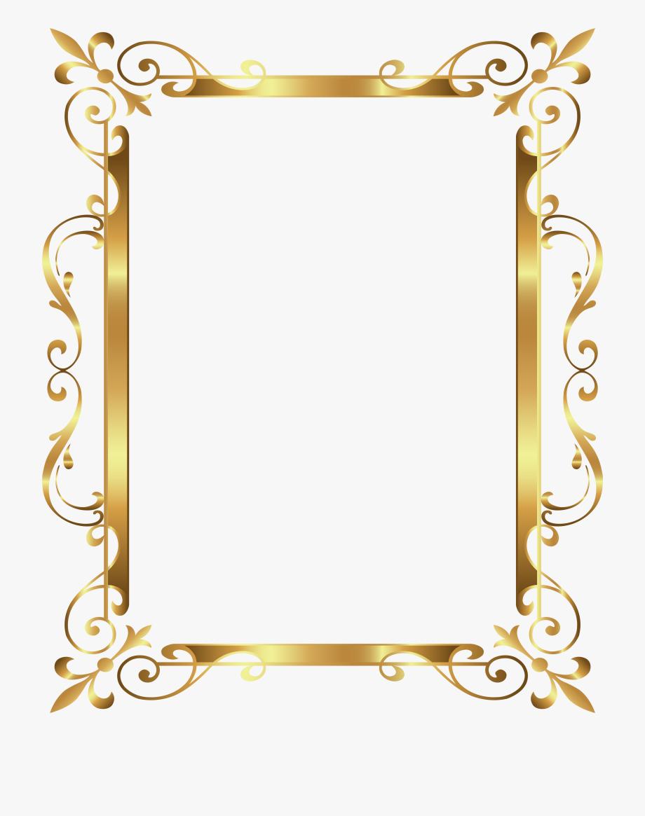 Art deco spring border clipart banner free download Border Frame Deco Transparent Clip Art Image Ⓒ #15715 - Free ... banner free download