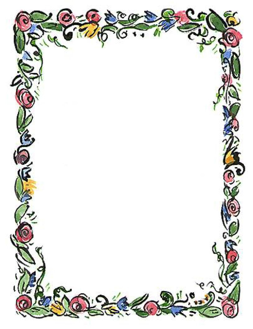Art deco spring border clipart picture library download Spring Flower Border Clipart Clipart Panda Free Clipart Images ... picture library download