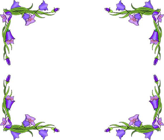 Art deco spring border clipart picture Free Flower Borders - Flower Border Clipart | clipart | Flower ... picture