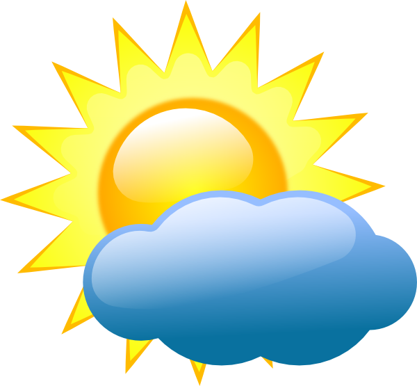 Clipart cloud and sun