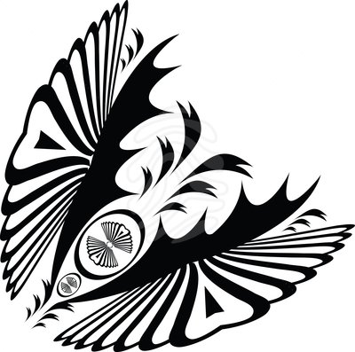 Art deco swirls clipart picture black and white library Clip art: deco swirl butterfly | Clipart Panda - Free Clipart Images picture black and white library