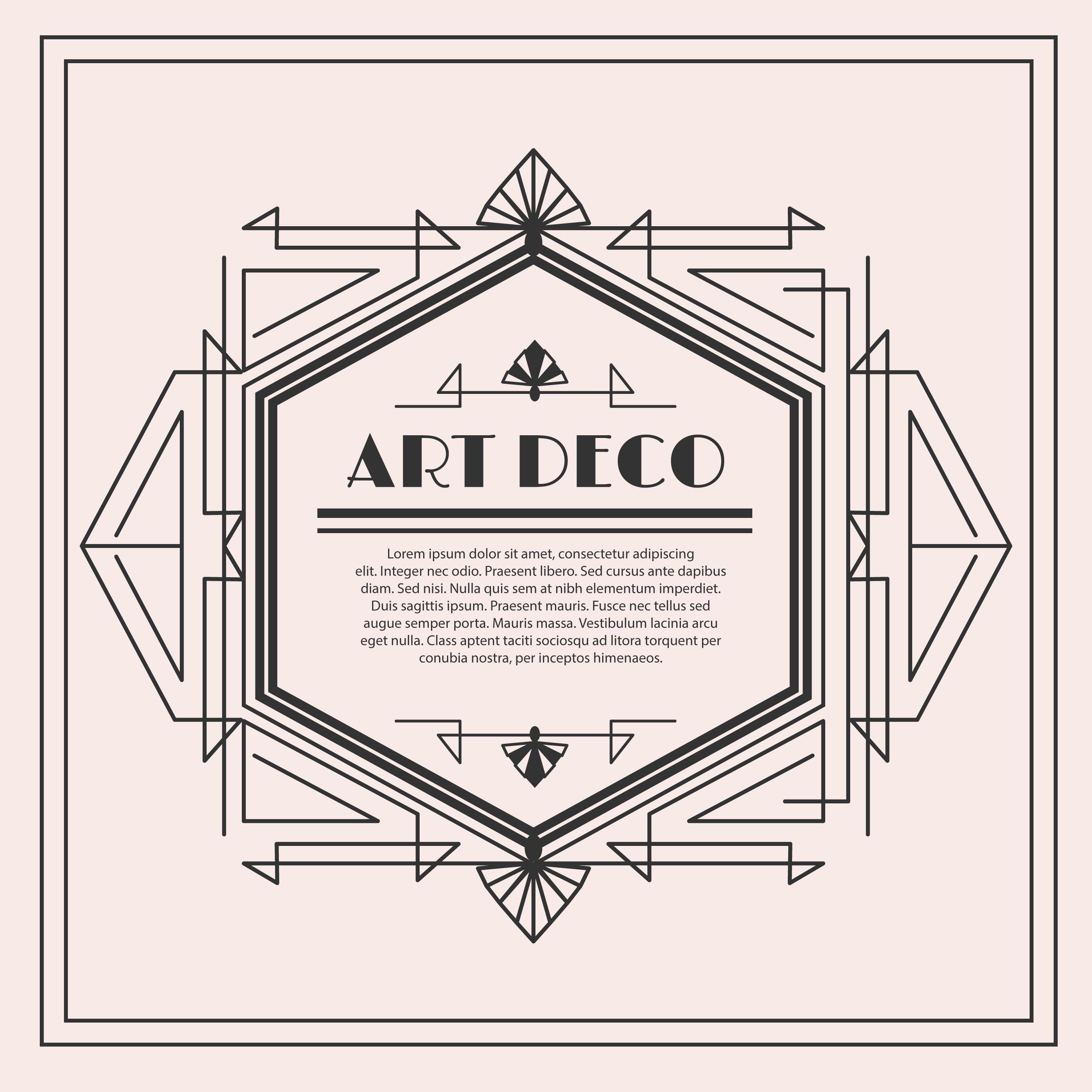 Art deco vectors clipart clip art freeuse Art Deco Vector Label | กรอบข้อความ | Deco, Vintage, Art deco clip art freeuse