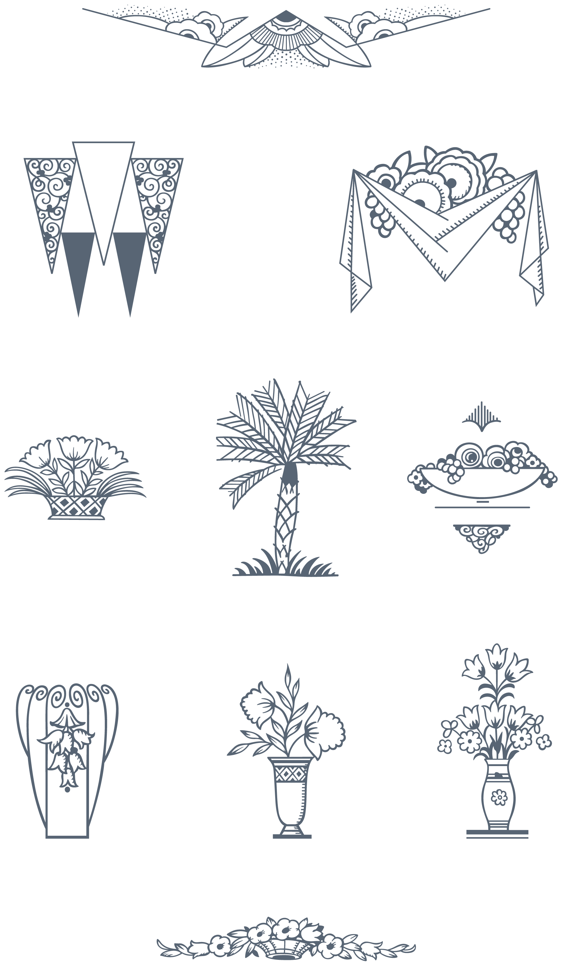 Art deco vectors clipart vector freeuse stock Ultimate Art Deco vector Pack: 275 Decorative Frames, 70 ... vector freeuse stock