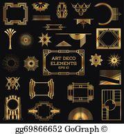 Art deco vectors clipart picture transparent stock Art Deco Clip Art - Royalty Free - GoGraph picture transparent stock