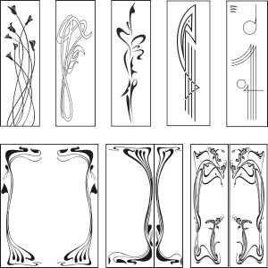 Art deco vectors clipart vector freeuse download Public Domain Art Nouveau paterns | Free graphic downloads: Art ... vector freeuse download