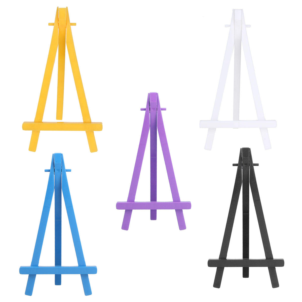 Colorful Wooden Tripod Easel Display Painting Stand Card Paintings Holder  Wedding Party jpg black and white download