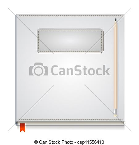 Vector clip of paper. Art front cover clipart