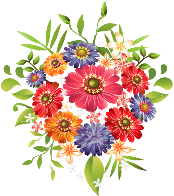 Art picture of flowers png transparent Grab This Free Summer Flower Clip Art | Fall flowers, Summer and ... png transparent