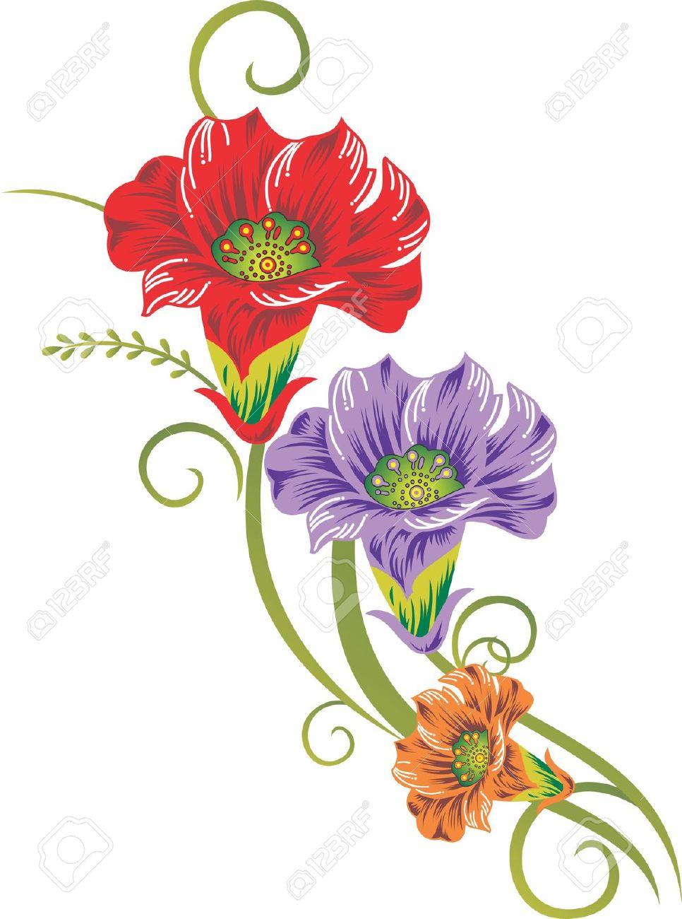 Art images of flowers. Flower pics clipartfest stock