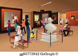 Art museum clipart clipart black and white Museum Clip Art - Royalty Free - GoGraph clipart black and white