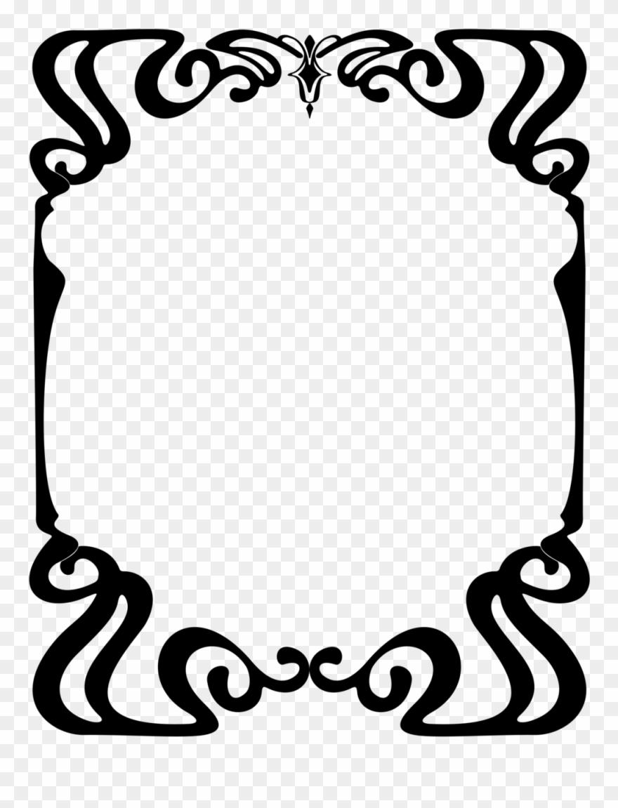 Art neuevo clipart picture free Art Nouveau Border Png - Art Nouveau Png Ornaments Clipart (#4892267 ... picture free
