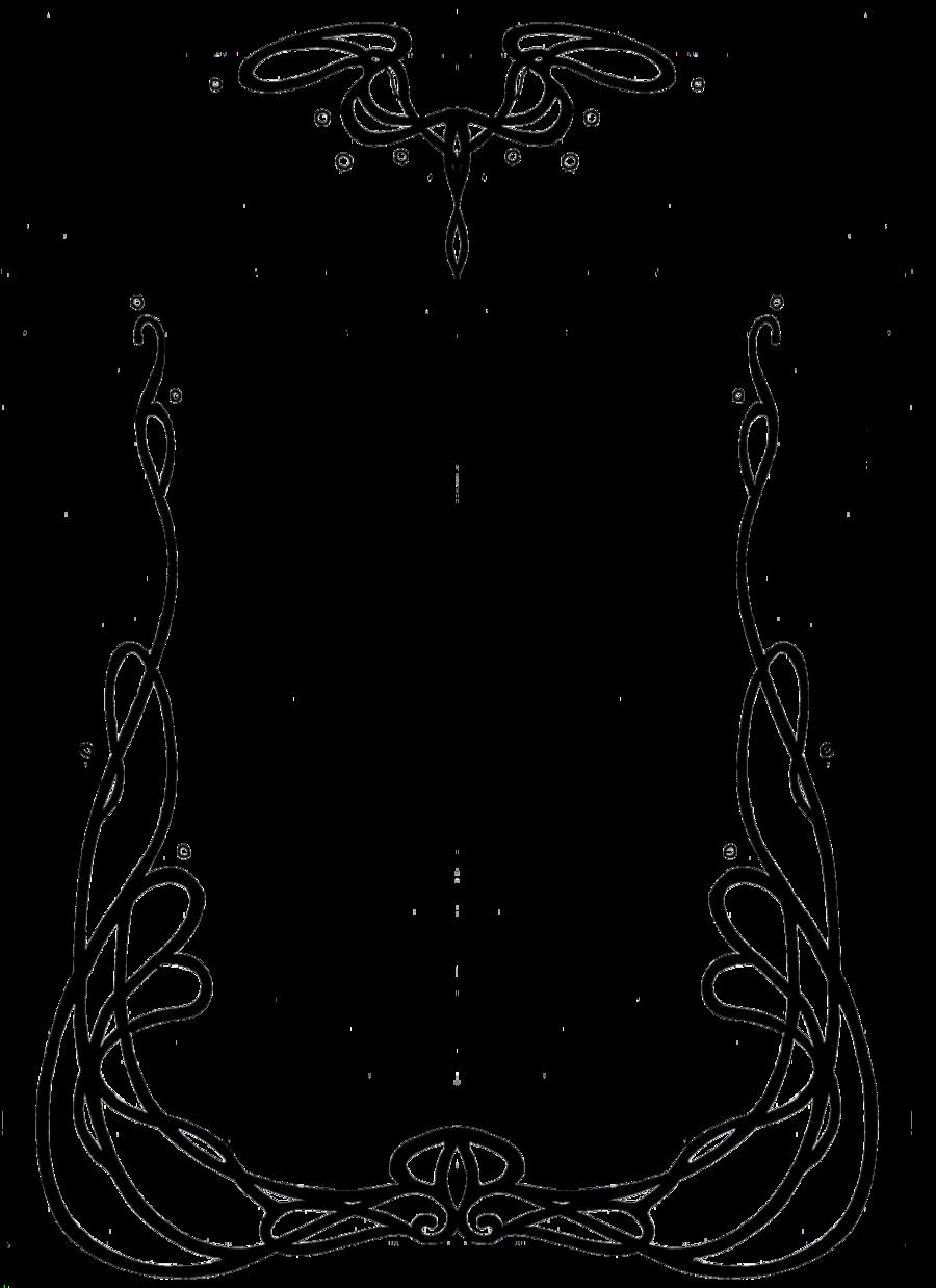 Art nouveau clipart book black and white download Art Nouveau Designs | art nouveau border 1 by anarielhime ... black and white download