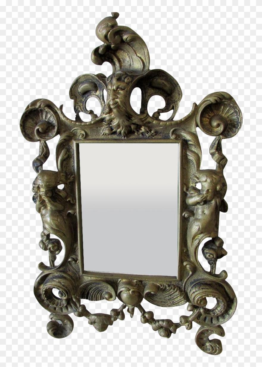 Art nouveau clipart mirror clip free stock Antique Mirror Frame Tattoo Art Nouveau Filigree Art - Mirror ... clip free stock