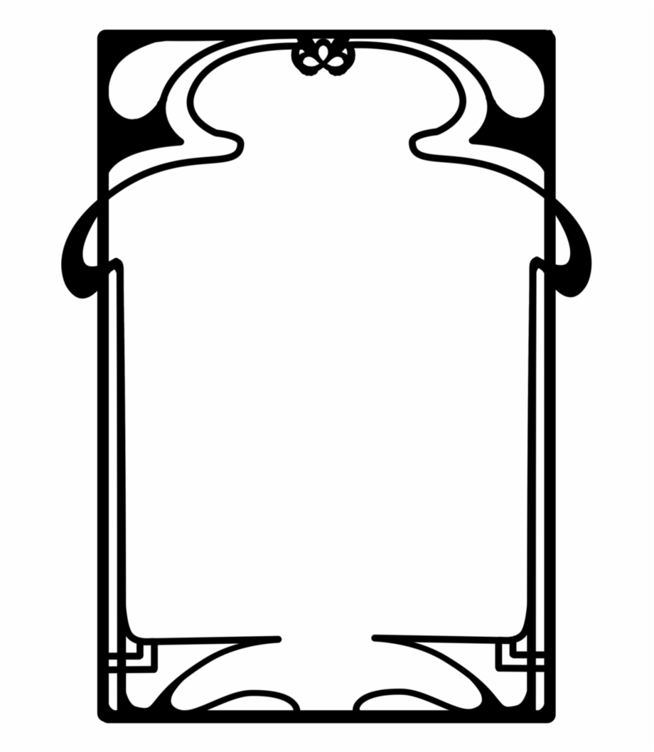 Art nouveau frame clipart black & white png transparent stock Art Nouveau Frame Png , Png Download - Art Nouveau Frame Png Free ... png transparent stock