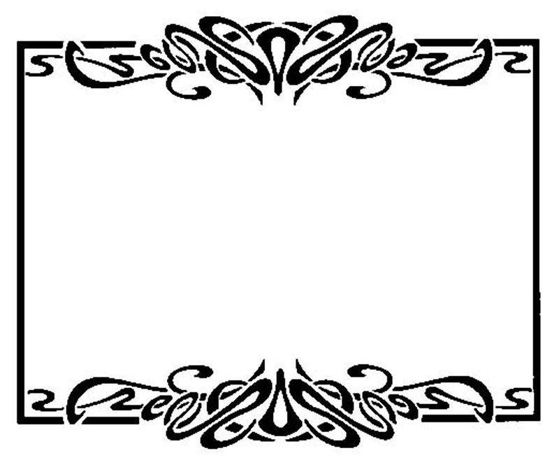 Art nouveau frame clipart black & white vector free stock Free Download Art Deco Borders - ClipArt Best | Backgrounds and ... vector free stock