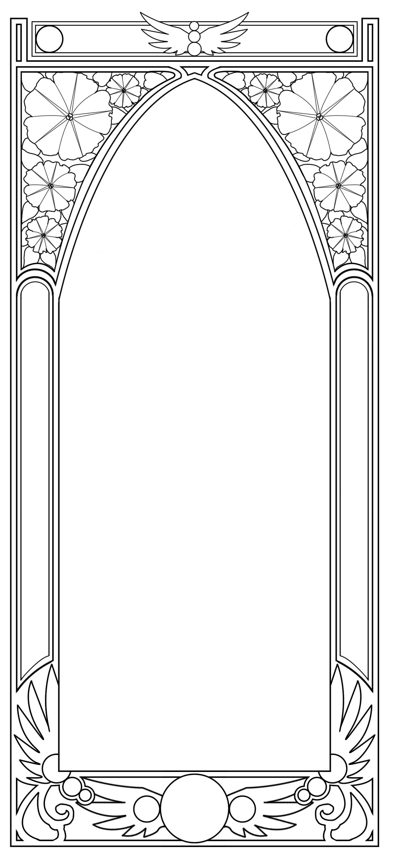 Art nouveau frame clipart black & white clipart freeuse download Art Deco Borders Clip Art | Free - Art Nouveau Border by BiSnarkian ... clipart freeuse download