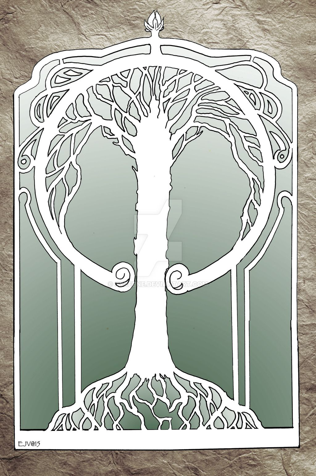Art nouveau tree woman clipart png freeuse stock Art Nouveau Tree by Syreene | TREE in 2019 | Art nouveau tattoo, Art ... png freeuse stock