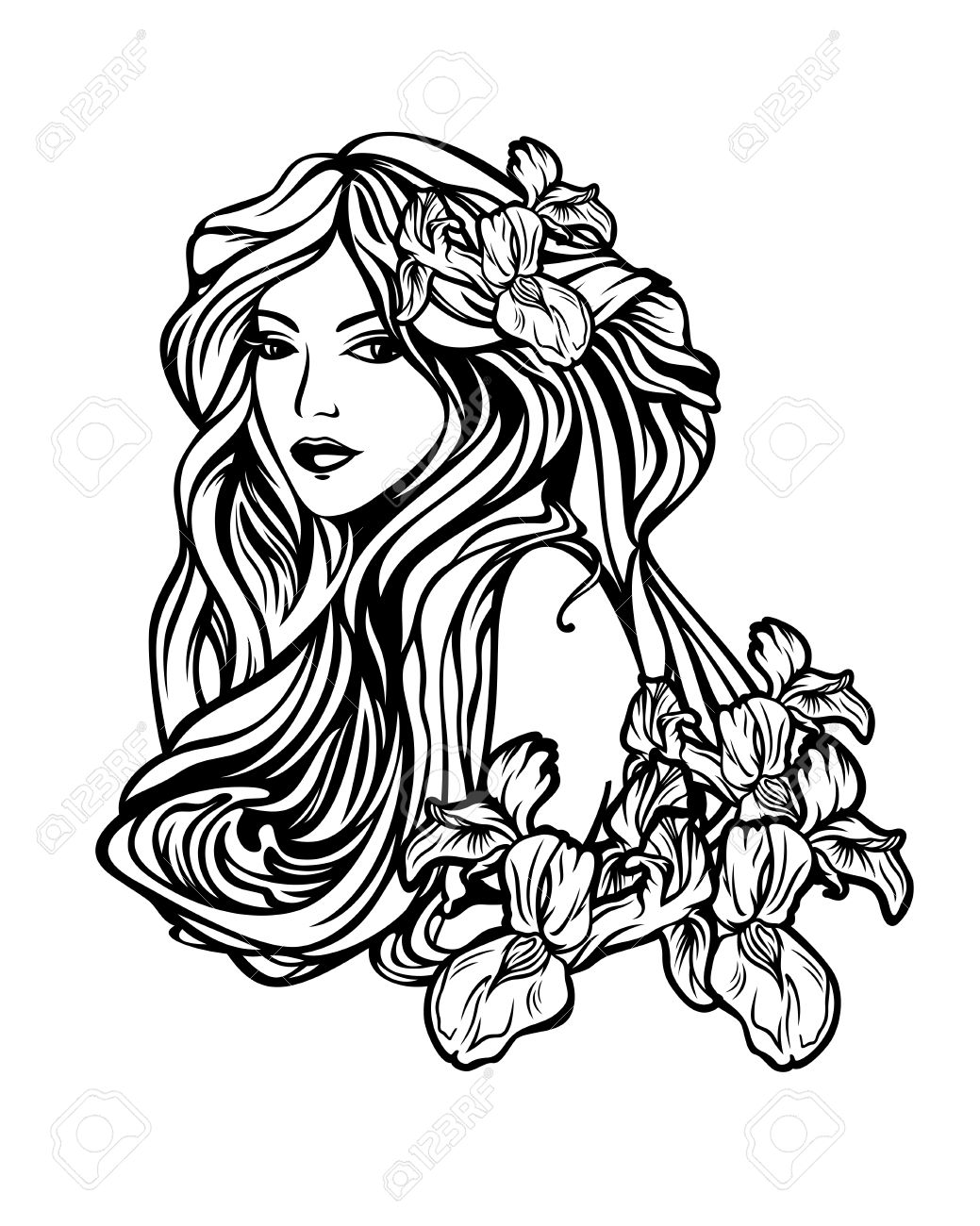 Art nouveau tree woman clipart picture free stock Black & White Photography | Clipartimage.c #341023 - Clipartimage.com picture free stock