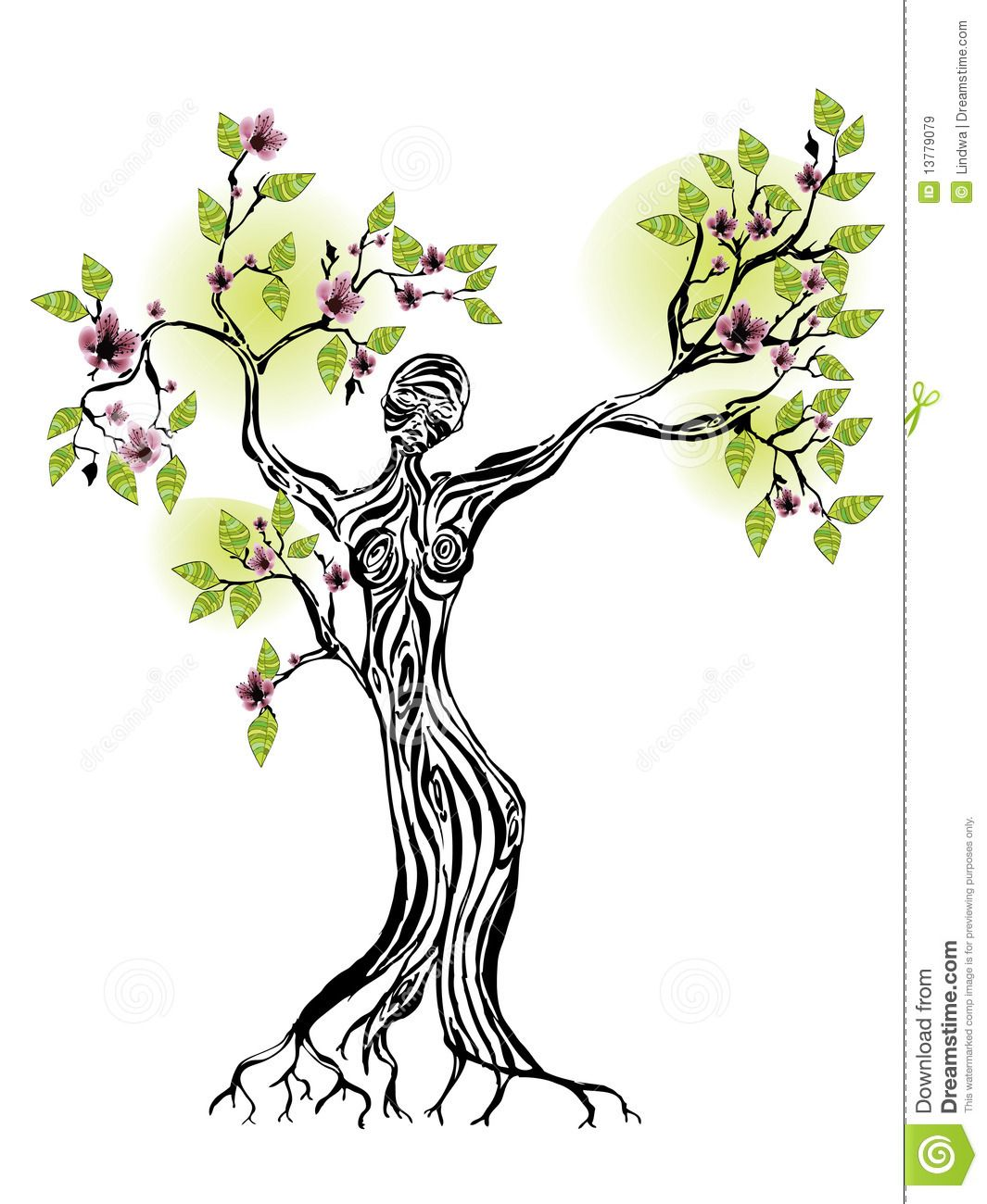 Art nouveau tree woman clipart svg transparent library female silhouette tree of life | Spring Tree With Women Silhouette ... svg transparent library
