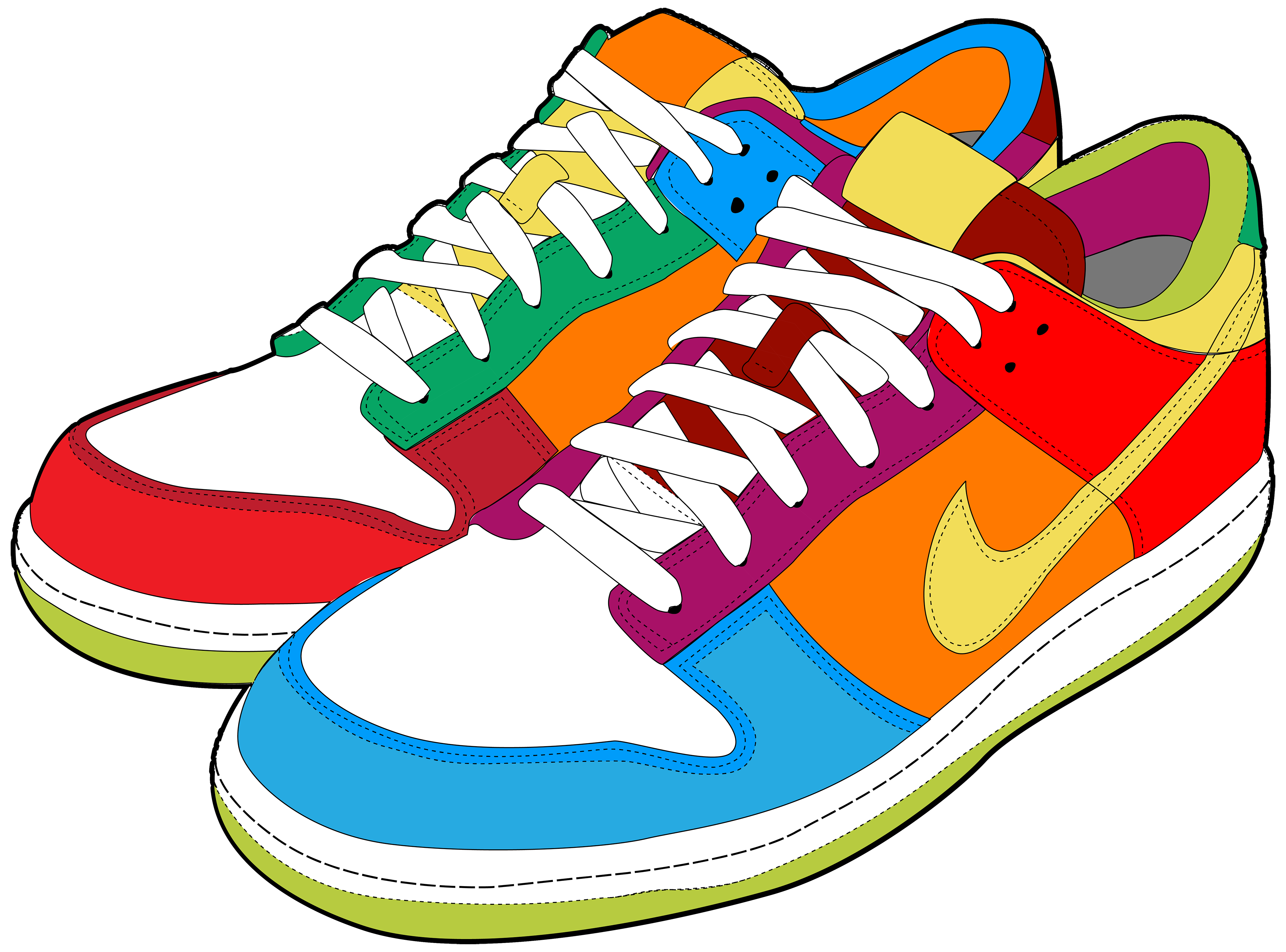 Art palette sneakers clipart vector transparent download Sneakers clipart - 78 transparent clip arts, images and pictures for ... vector transparent download