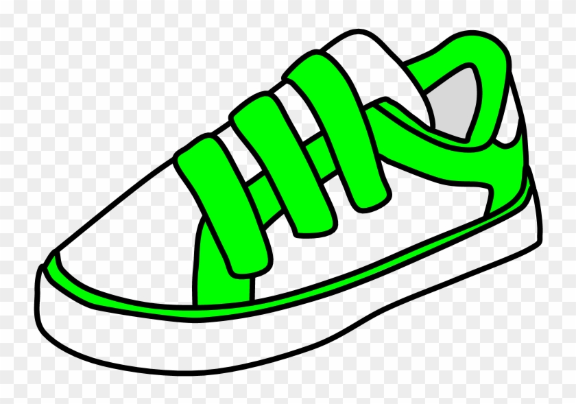 Art palette sneakers clipart clip black and white Sneakers, Velcro, White, Bright Green, Png - Velcro Shoes Clipart ... clip black and white