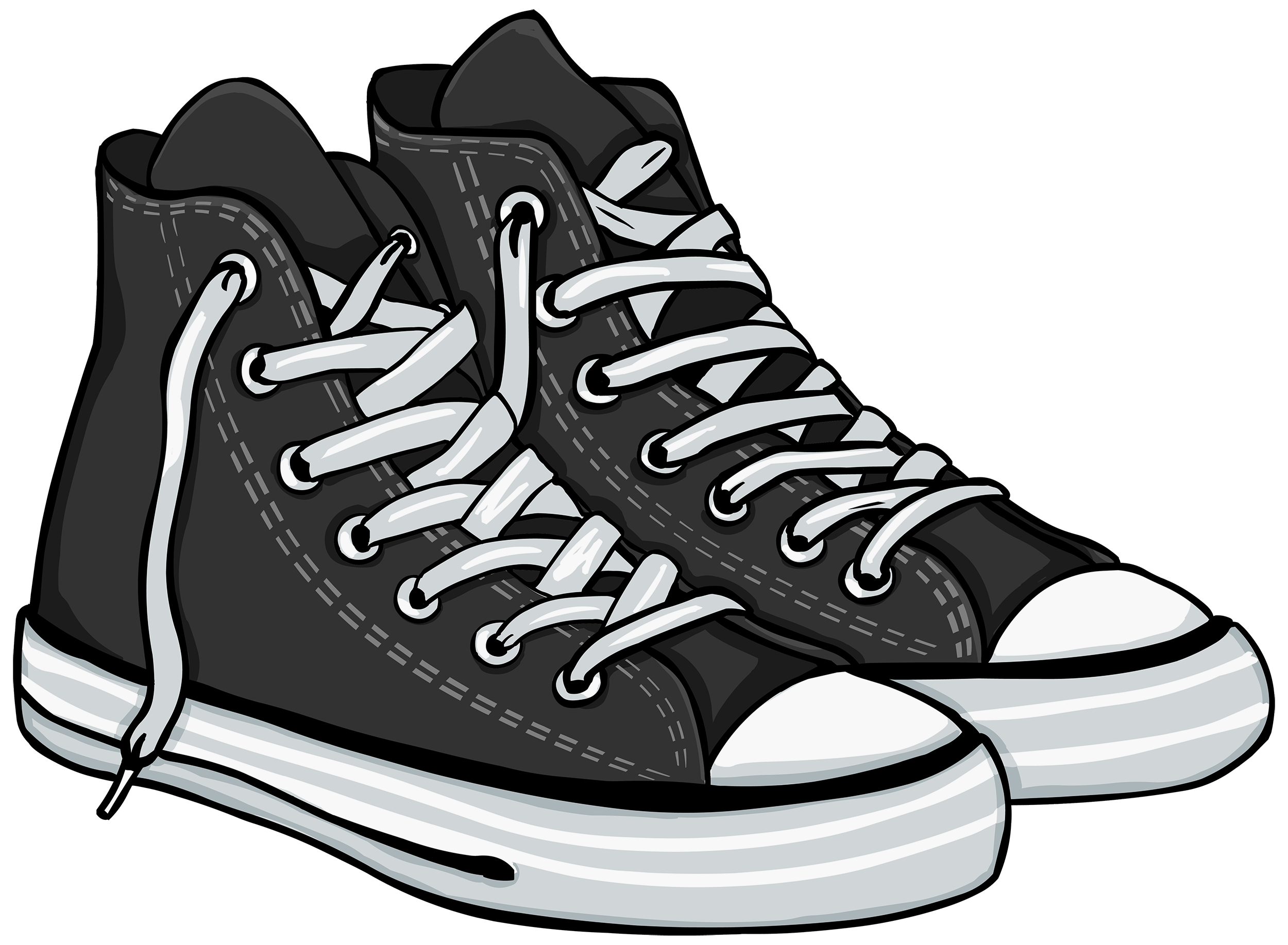Art palette sneakers clipart clip art black and white download Pair of shoes clipart black and white 3 » Clipart Portal clip art black and white download