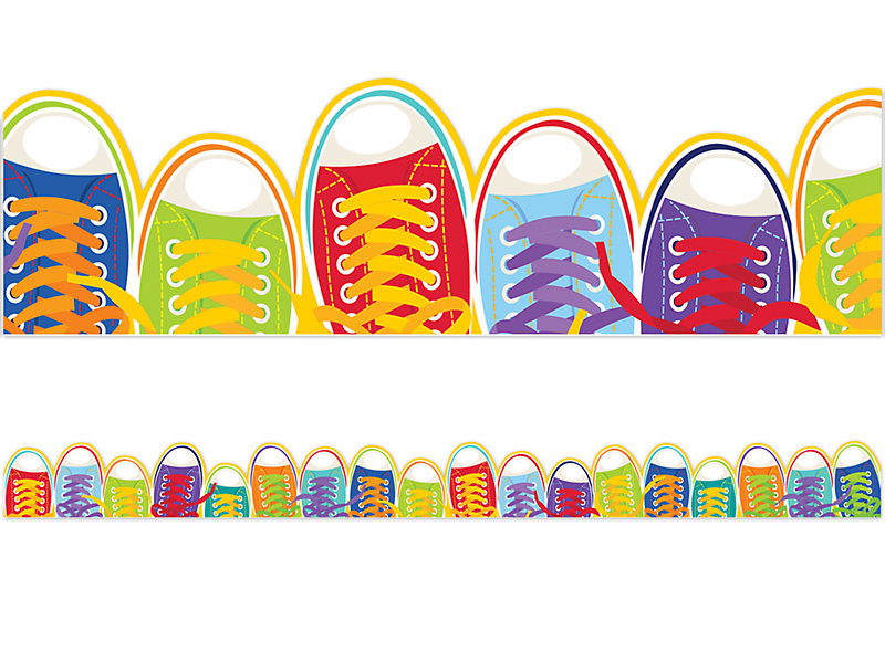 Art palette sneakers clipart banner library download Step Up! Shoe Border banner library download