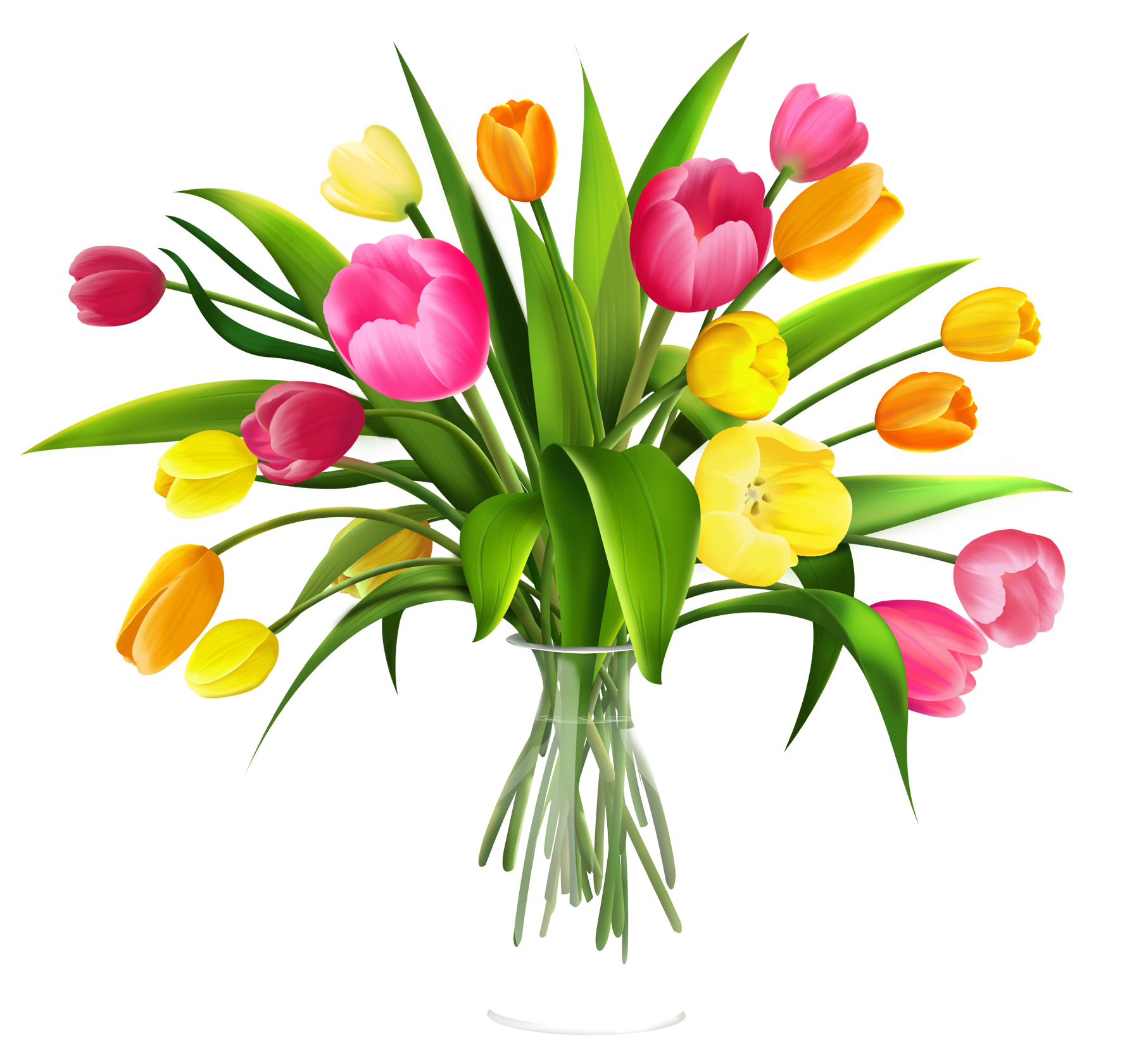Clipart bunch of flowers vector transparent download Free Clip Art Flowers in Vase | Use these free images for your ... vector transparent download