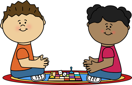 Kids playing a boardgame classroom clipart image black and white Playing Board Game Clip Art - Playing Board Game Image image black and white