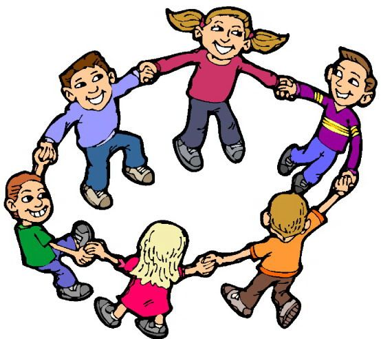 Kids playing games clipart
