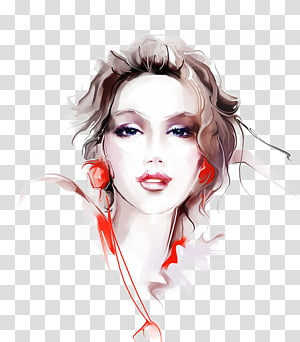 Art portrait girl clipart vector Female portrait, Digital art Digital painting Printmaking ... vector