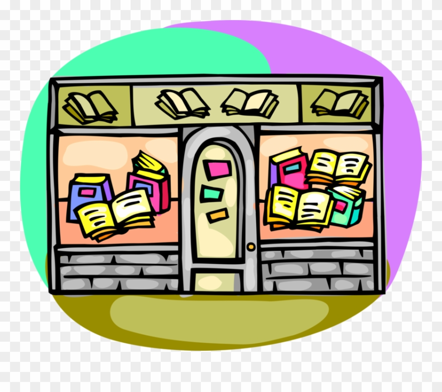 Art shop clipart picture stock Retail Used Book Store Image Illustration Of - Book Store Clip Art ... picture stock