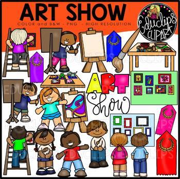 Art show clipart vector freeuse download Art Show Clip Art Bundle {Educlips Clipart} vector freeuse download