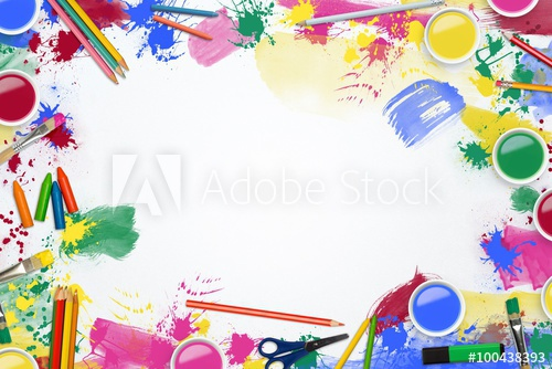 Art suppliesborder clipart clip art free stock Art supplies border line - Buy this stock photo and explore similar ... clip art free stock