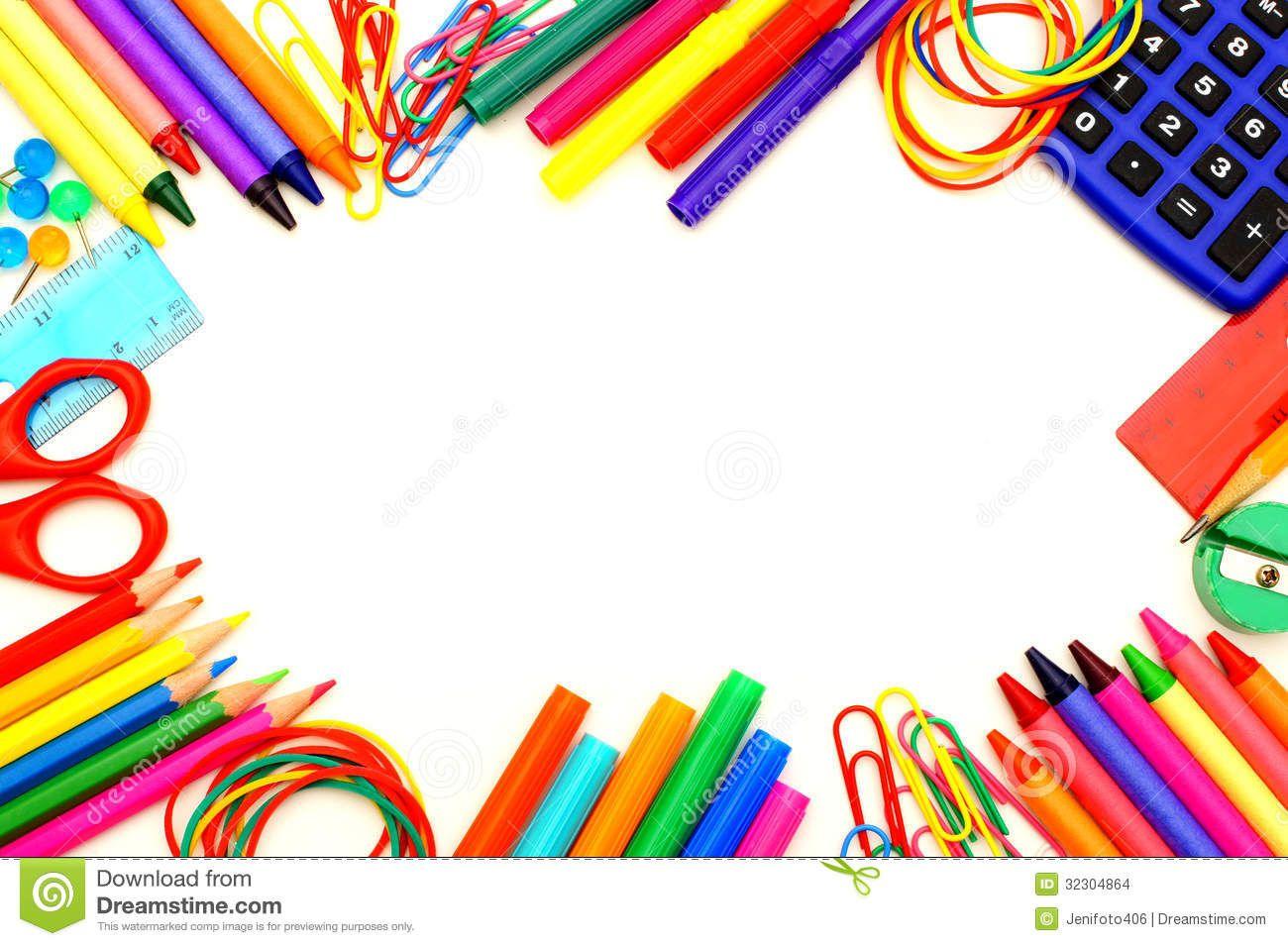 Art suppliesborder clipart png royalty free stock School Supplies Border Clipart   Free download best School Supplies ... png royalty free stock