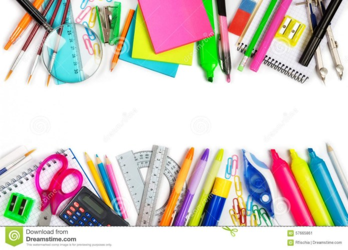 Art suppliesborder clipart graphic free download School Supplies Clip Art Border – 101 Clip Art – art drawing supplies graphic free download