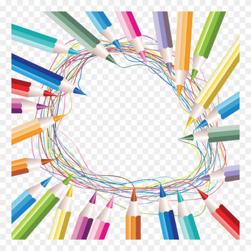 Art suppliesborder clipart clip stock Clipart Border School Supply - Frame School Png Transparent Png ... clip stock
