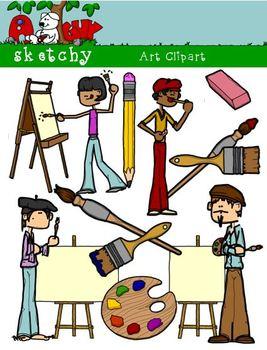 Art supply color clipart clipart library download Artist / Art Materials Supplies Clipart Graphics 300dpi Color Gray ... clipart library download
