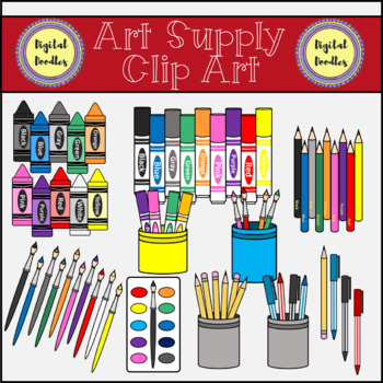 Art supply color clipart vector library download Art Supply Clip Art vector library download