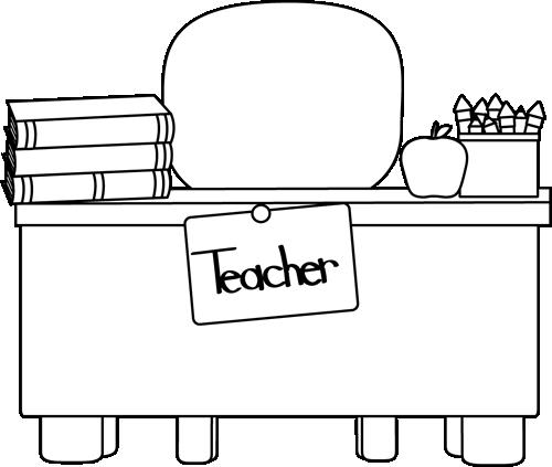 Art teachers desk clipart image royalty free library Back and White Teacher\'s Desk Clip Art - Back and White Teacher\'s ... image royalty free library