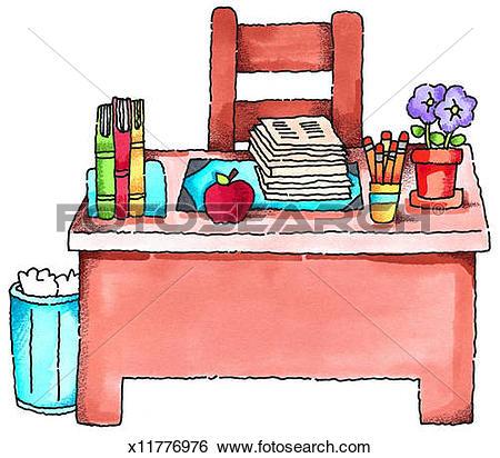 Art teachers desk clipart svg free library Teacher Table Clipart | Free download best Teacher Table Clipart on ... svg free library