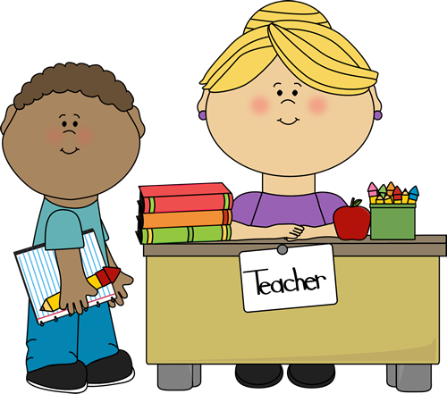 Clipart teacher and student clip library Boy Student at Teacher\'s Desk | craft time | Teacher images, Student ... clip library