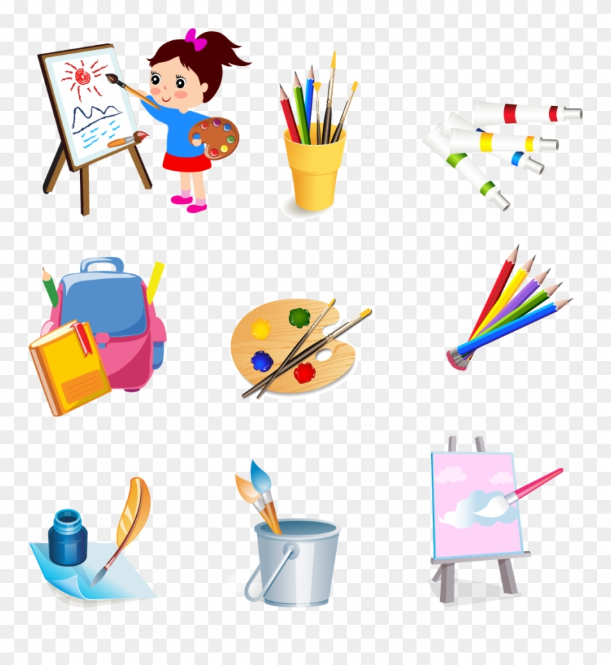 Drawing tools clipart clipart black and white library Tools Clip Art Drawing - Png Download (#99227) - PinClipart clipart black and white library