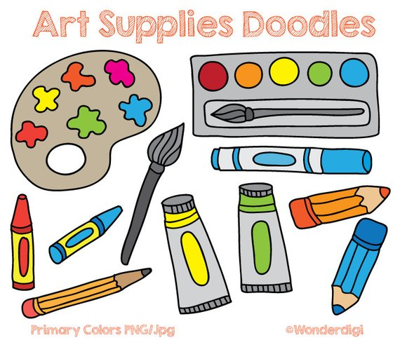 Art tools clipart picture royalty free download Clipart Art Supplies (97+ images in Collection) Page 2 picture royalty free download