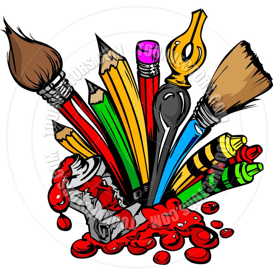 Art tools clipart clip art library download Art Supplies Clipart | Clipart Panda - Free Clipart Images clip art library download