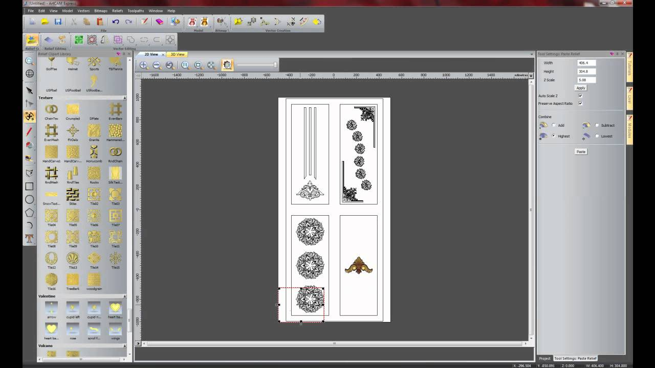Artcam 2008 relief clipart library image transparent stock BuildYourCNC - Delcam ArtCAM CADCAM Software image transparent stock