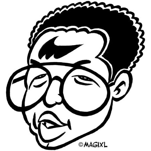 Arthur ashe clipart image free library Caricatures of tennis champions image free library