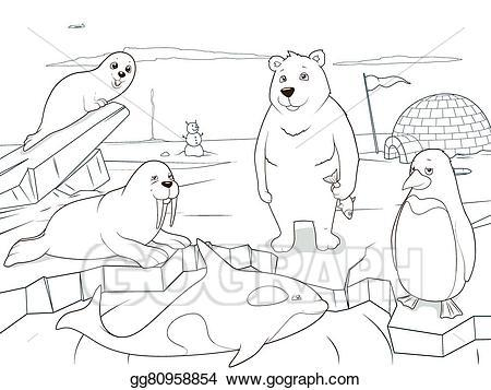 Artic clipart black and white picture royalty free Arctic animals clipart black and white 2 » Clipart Portal picture royalty free