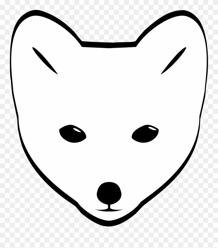 Artic foxes clipart png Polar Fox Clipart Polar - Arctic Fox Face Drawing - Png Download ... png