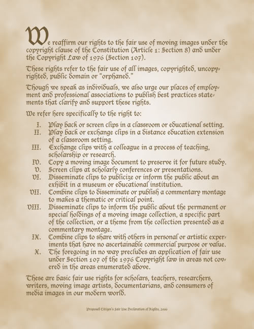 Article 1 section 8 clip free stock A Fair Use Bill of Rights – Flow clip free stock